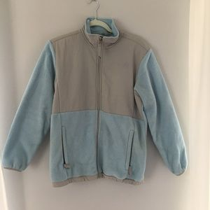 North Face   Kids Blue & Gray Fleece Coat